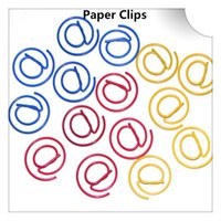 Wholesale 200Pcs Shape Paper Clips Creative Bookmark Memo Clip Stationery for Office School Home Use Xmas Best Gifts