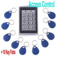 Wholesale Entry Metal Door Access Control - RFID Entry Metal Door Lock Access Control System + 10 Key Fobs , H4391, freeshipping, Dropshipping