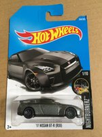Wholesale Nissan R35 - New Arrivals 2018 8a Hot Wheels 1:64 black 17th nissan gtr-r r35 Car Models Collection Kids Toys Vehicle For Children