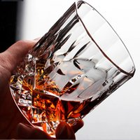 Wholesale Whiskey Crystal - Creative Crystal glass Whiskey Glass lead-free thickened liquor cup foreign wine cocktail Diamond Water Cup home