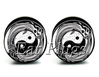 Wholesale Yin Yang Bag - Wholesale ear gauges 60pcs bag dolphin Yin Yang ear plug gauges tunnel ear expander ASP0458