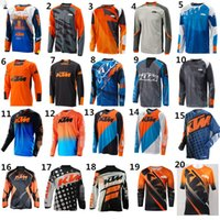 Wholesale Nylon Cycling Shirt - 2018 New Arrival for KTM Motorcycle Riding Team Riding Jersey Motocross MOTO GP Sports Jersey Bicycle Cycling downhill Jerseys