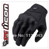 Wholesale American Goat - Wholesale-American ICON invisible motorcycle gloves punch goat leather gloves super ventilation function