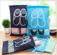 Wholesale fabric windows - Non-woven Travel Shoe Bags with Clear View Window Shoes Organizer Dust-proof for Trip and Luggage