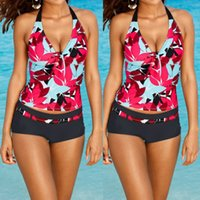 Wholesale-2017 Plus Größe Sexy Frauen Tankini Badeanzug Push Up Bikini Set einteilige Damen Bademode Beachwear