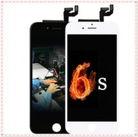 Wholesale Iphone Screen Test - 100% test Grade A +++ For iPhone 6S LCD Display Touch Digitizer Frame Assembly Repair black white Free DHL shipping