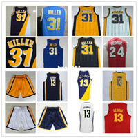 3bc7125b4cc Wholesale Paul George Reggie Miller Basketball Jersey Top Quality Stitched  Men s Throwback Basketball Jersey