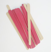 Wholesale Wooden File - 100pcs Double Color 178mm Nail Files Red Wooden Wood Nail File 180  240 Disposable Art Manicure Tools