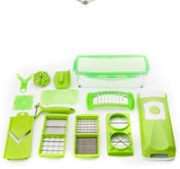 Wholesale Kitchen Kit Cutting - Practical Kitchen Tool Set Multi Function Vegetable Fruit Slicer Plus Chopper Cutter Peeler Graters Kit Plastic Durable Cutting Tools 19cc B