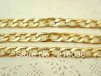 Wholesale Chains Meters Gold - 8 Meter Does Not Rust Gold Aluminum Chains 10mm For Handbag Bag Gift Accessories Necklace DIY Fashion Jewelry Findings N475