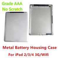 Wholesale ipad back cover housing - Grade AAA No Any Defect Original Quality Battery Housing Door Case For Ipad 2 3 4 3G   Wifi Version Back Cover free shipping