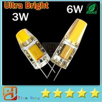 Wholesale Super Corn Cob Led - Super Bright G4 LED 12V Lamp DC AC 12v COB Led Bulb Light 3W 6W Replace Halogen Lamp 360 Beam Angle Free Shipping