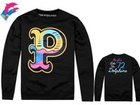 Wholesale Pink Dolphin Leopard - hip hop clothing for big men Pink dolphin Black chris brown couple pullover hoodie men fashion sport hoodies