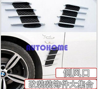 1 X auto di aspirazione flusso Vent Ventilatore Decorazione Stickers Hood Side Hood Badge $ 18 no track