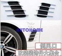 Wholesale Decoration Vent Cover - 1 X Car Air Intake Flow Vent Fender Decoration Stickers Side Cover Hood Badge order<$18no track