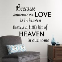 Wholesale Heaven Wall Decals - LOVE HEAVEN in our home wall decals quote wall decorations living room bedroom wall stickers kids room decoration