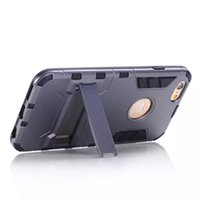 Wholesale galaxy s5 kickstand cover for sale - Group buy Hybrid KickStand Anti Shock Defender Armor Case TPU PC cover For iphone X XR XS XS MAX S plus Galaxy S5 S6 S6 EDGE S7