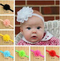 Wholesale Eyelet Flower Headbands - 10% OFFFree shipping,100 pcs lot Baby children headband with Eyelet hair Flower,kids girl infant headwear ribbon bow,fashion hair accessorie