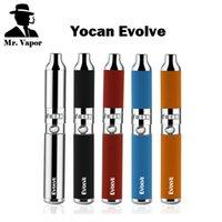 d stifte großhandel-Authentischer Yocan Evolve Wax Vaporizer Stift Evolve-D Dry Herb Starter Kit 650mAh eGo Thread Dual Coils Silber Schwarz Rot Blau Orange Farben