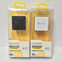 Wholesale 9v Adapter - NEW QC3.0 12V 9V 5V Quick Fast Wall Charger Adapter For Samsung S6 S7 edge S8 Plus Note8 With Retail Packaging