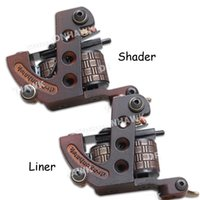 Wholesale 2 Tattoo Machine Gun Liner Shader Steel Frame Copper Coils WQ4448