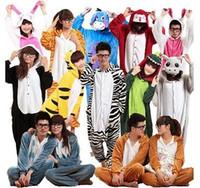 ciel cosplay féminin achat en gros de-10 Style Vente Chaude Unisexe Adulte Pyjamas Kigurumi Cosplay Costume Animal Onesie Costume De Nuit Costume S / M / L / XL