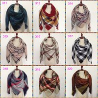 Wholesale Winter Scarves For Ladies - Wholesale140x140cm winter cuadros acrylic cashmere bufandas tartan plaid scarf brand designer blanket shawl for Lady Women Girl