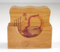En gros-Freeshipping Craft Bamboo Coaster de la Chine Fujian Tea stand