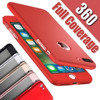 Wholesale Moq Screen Protector - 360 Degree Full Coverage Hard PC Case For Iphone X 8 Plus 7 6 6S SE 5S Samsung S8 Plus With Screen Protector Back Cover With Hole MOQ:50pcs