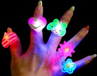 ingrosso i bambini del sacchetto della gelatina-Gelatina lampeggiante LED Cartoon Ring Pinata Fillers Borsa per bambini per bambini Bomboniera Festa da ballo Regali di compleanno Giocattoli a LED