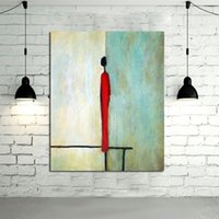 Wholesale Portrait Painting Gift - Handmade Modern Abstract Decorative The Simple Portrait Oil Painting On Canvas Wall Art For Living Room As Unique Gift