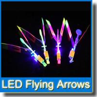 Wholesale Newest Toy Led - 2015 Newest Toy LED Amazing Arrow Helicopter Flying Umbrella Space UFO LED Arrow Helicopter LED Flying Toys MOQ:10Pcs