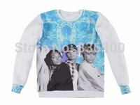 Wholesale Hip Hop Clothing Free Shipping - 2015 Hot star TLC Girls Team Band Print 3d sweatshirts fashion hip hop hoodies Women Men street wear clothes Free shipping