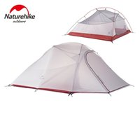 Vente en gros- Naturehike 3 Man Grand Camping Tente Ultralight Imperméable Randonnée Randonnée Camping Camp Tentes Largeur 1.8 m 3 Couleurs