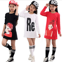 Wholesale Designer Shirts Children - Kids Clothing Children T-shirts Girls Designer Clothes 12 Designs Cotton Character Letter Fashion Clothes Hot Sale DHL Free