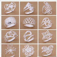 Wholesale ordering plants - Mixed Order 24pcs lot 925 silver plated rings fashion jewelry party style Top quality Christmas gift free shipping 1766