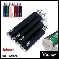 Wholesale Wholesale Twist Battery - Vision Spinner Ego c twist electronic cigarette ego-c twist battery 650 900 1100 1300 mah Variable Voltage 3.3-4.8V
