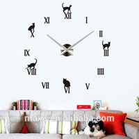 Wholesale Piece Online - 12S020-B Max3 Fashion 3D Wall Clock Sticker DIY Wall Clocks Online