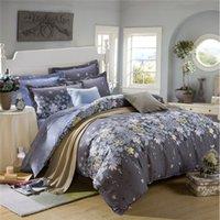 Wholesale Wholesale Comforters Sets - Wholesale-4pcs Beautiful Design Printing Bedding Set 2 Pillowcase Bed Sheet And Duvet Cover Luxury Comforter Winter Cotton Bedding Sets