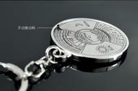 Wholesale Perpetual Moon - 1Pcs Super Perpetual Unique Metal Ring 50 Years Perpetual Calendar Key Chain