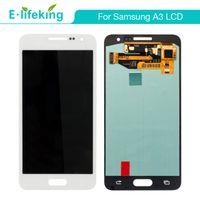 a3 bildschirm großhandel-Großhandel LCD Display Für Samsung A3 A300 Touchscreen Digitizer Assembly Ersatz mit Freiem DHL Shipping + Black + White + Gold Farbe