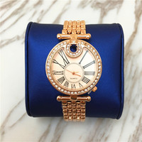 Wholesale Christmas Gift Specials - New Model Luxury women watch Rose Gold Dress watch Diamond Stainless steel Lady Quartz gifts Accessories Special Design TopBrand C Free box