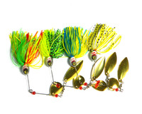 Wholesale Wholesale Rubber Fishing Baits - Hengjia new 4pcs 20.5G Spinners hard baits fishing spinner lure spinner buzz bait,fishing bait,spoons,free shipping,rubber jig(SB004)