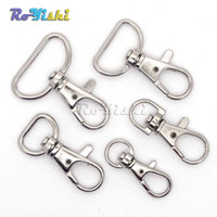 Wholesale Hooks Swivels - 100pcs lot Matel Snap Hooks Rotary Swivel For Backpack Webbing 8.9mm-25.4mm Nickel Plated Lobster Clasps