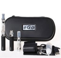 Wholesale Ego Starter Kit Dual - 2PCS eGo-T Dual Vaporizer Atomizer Vape Pen Double Starter Kit High Capacity 1100mAh Battery Case Free Shipping