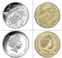 Wholesale Zodiac Coins Set - 2 pcs lot( 1set), Mix 2 designs 2016 Lunar Series Animal Year of the monkey Chinese zodiac silver gold plated Eilzabeth souvenir coin set
