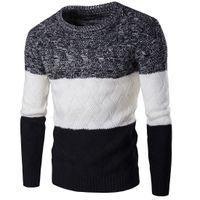 ingrosso vestiti coreani uomini stile nuovo-Nuovi uomini di stile pullover di inverno maglione di marca maglia manica lunga O-Collo sottile moda coreana vestiti maglione uomo M-2XL