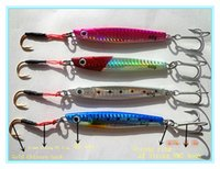 Wholesale Vmc Hooks - New!!Lead fish lure 40g Metal baits with VMC hook 2# gold single hook four color free shipping