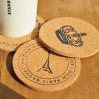 Wholesale Wood Discs - Cork Wood Tableware Mat Heat Resisting Disc Pad Home Kitchen Supplies For Eiffel Tower Coasters 1 8zw C R