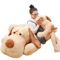 Wholesale giant stuff dog toys - 2017 popular 150cm Large Cute Lying Animal Dog Plush Toy 59inches Giant Stuffed Cartoon Dogs Pillow Doll Baby Lover Gift